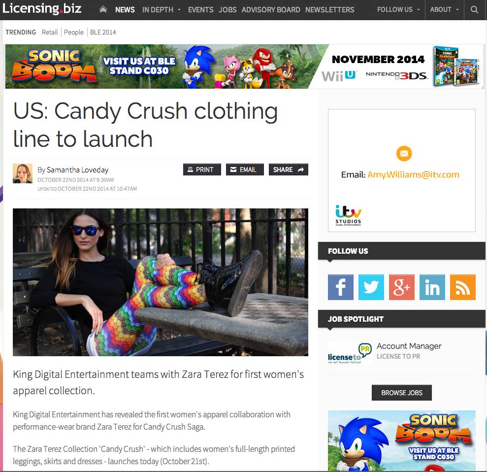 Candy Crush Clothing by Zara Terez