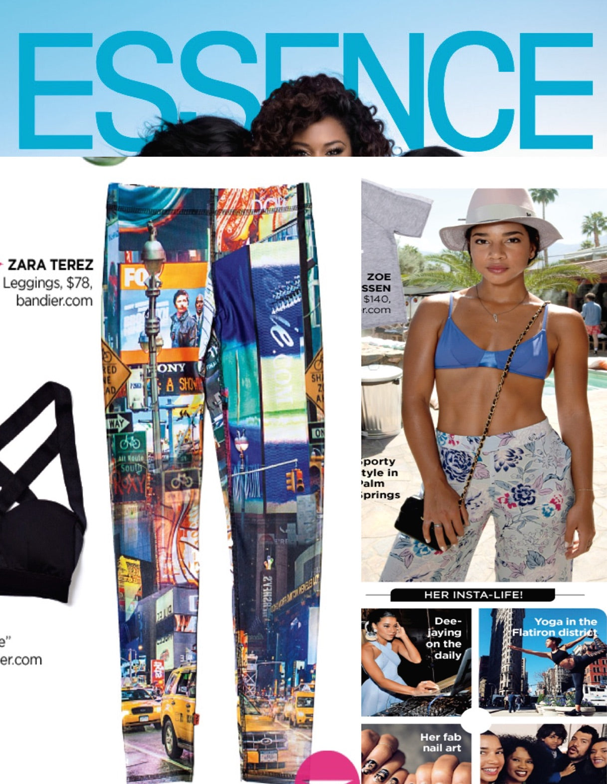 Zara Terez Leggings in Essence Magazine