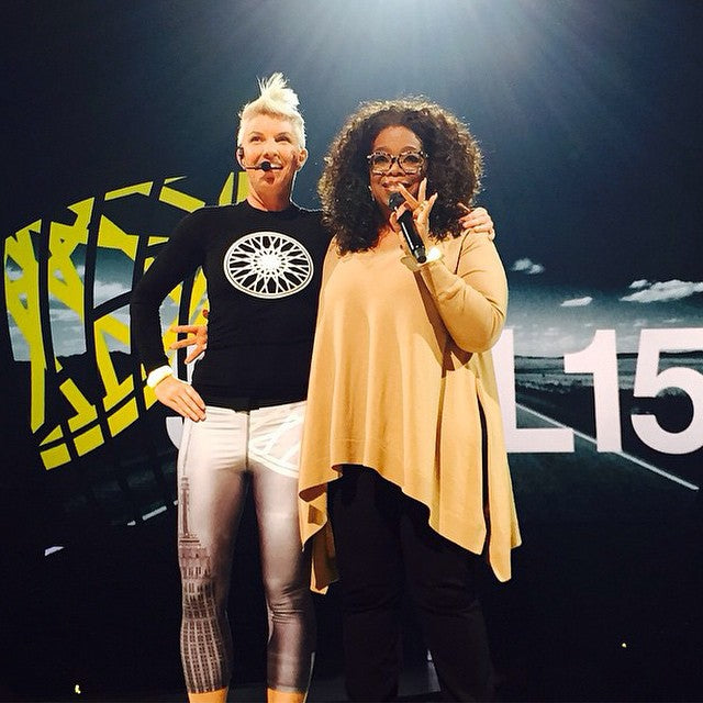 Zara Terez SoulCycle Leggings on Oprah