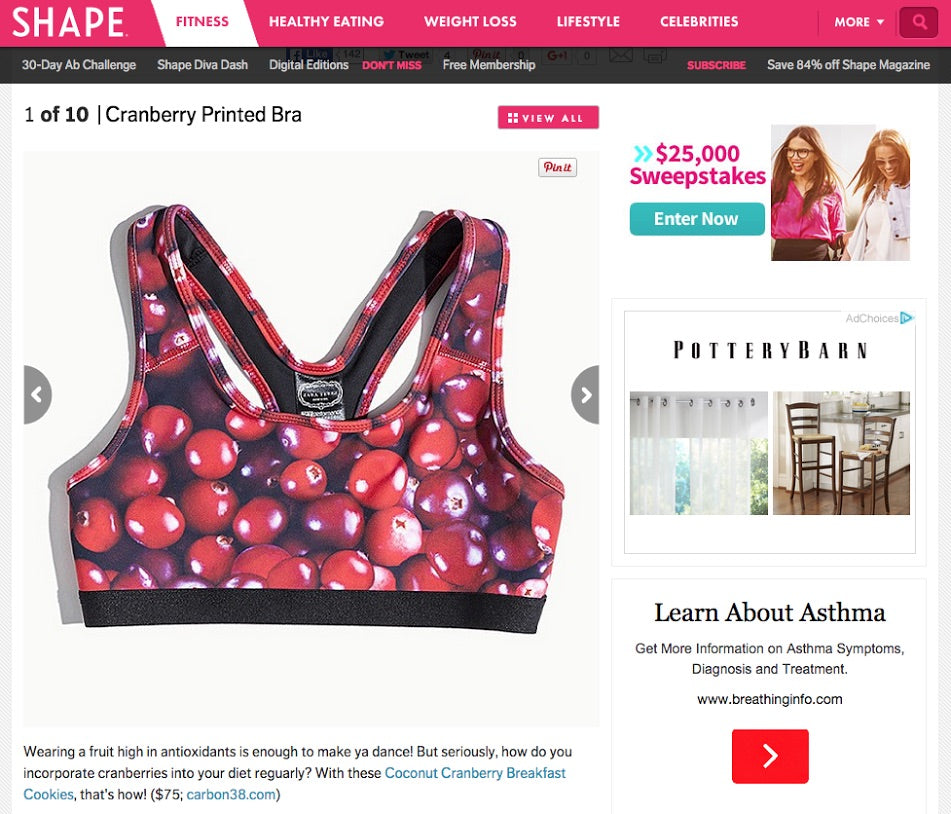 Cranberry Cranberries Sports Bra