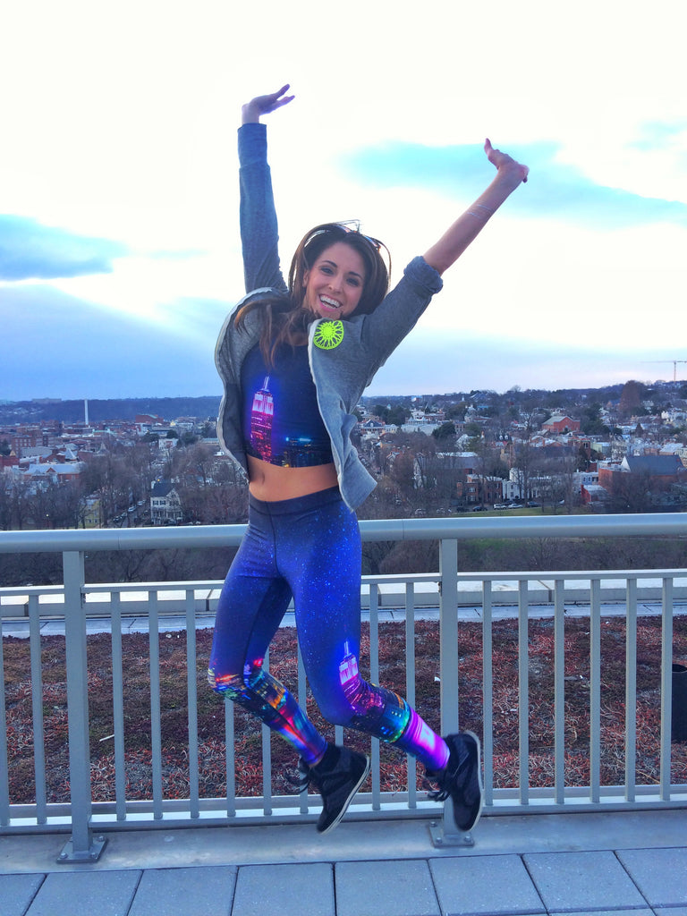 SoulCycle instructor Lisa Boccuzzi wears Terez NYC Nights Leggings