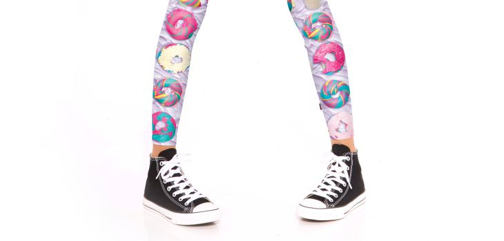 Terez and The Bagel Store make Rainbow Bagel Leggings