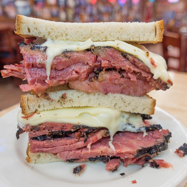 Terez eats at Katz's Deli in New York City
