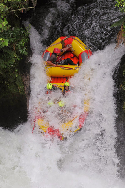 Terez goes white water rafting in New Zealand