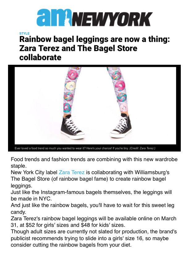 Rainbow Bagels Leggings