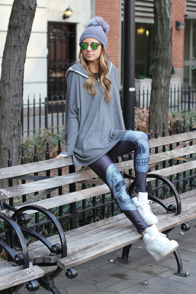 Terez street style in Crystal Skull Leggings