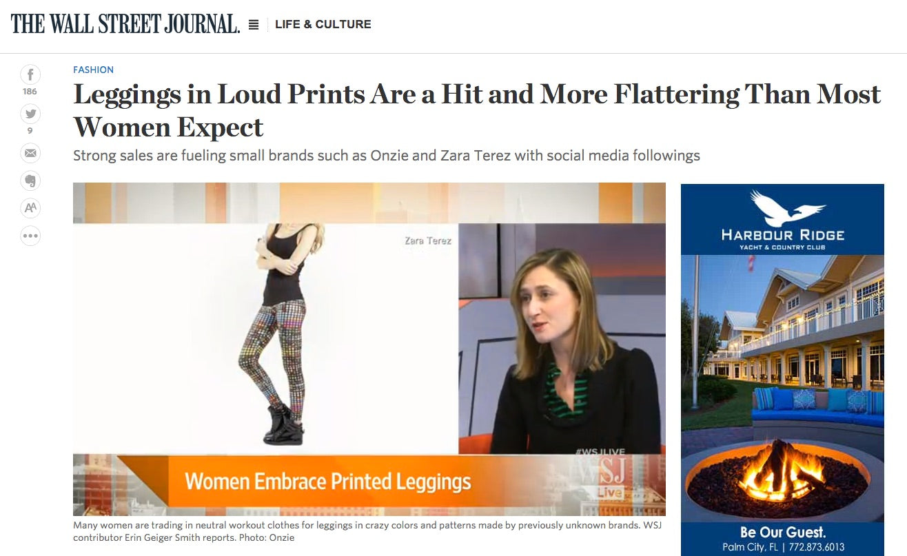 Zara Terez in The Wall Street Journal