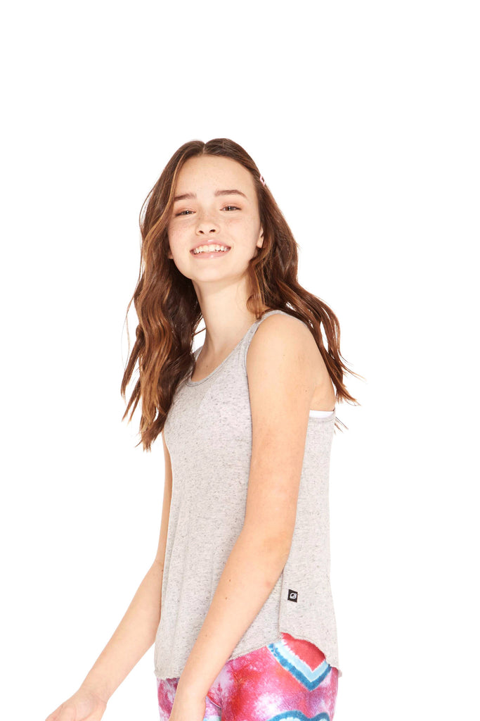 Girls Heathered Gray Tank by Terez