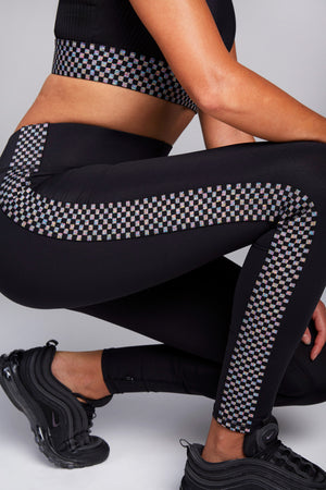 Glitter Checker Leggings