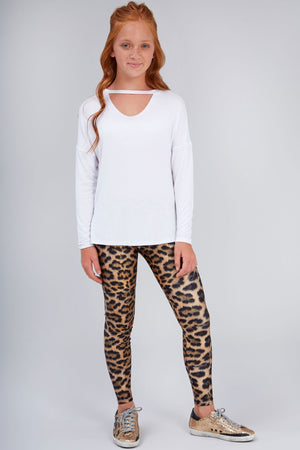 Girls Leopard Goals Leggings