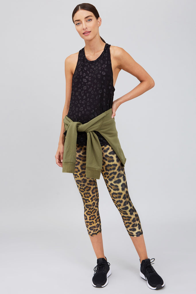 Leopard Goals Super-High Band Capris