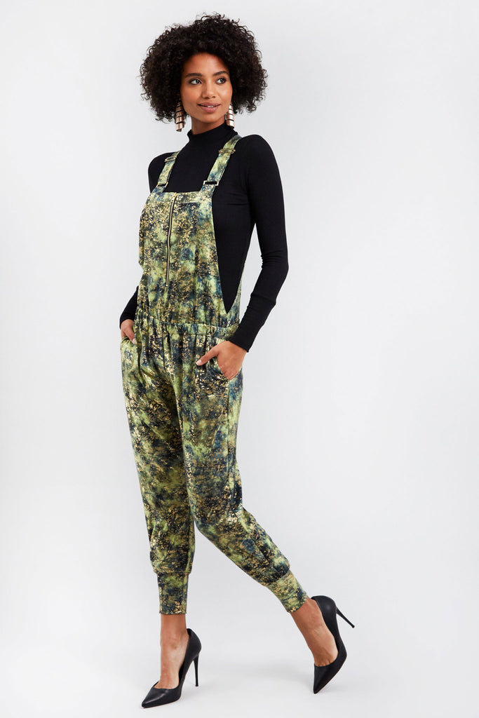 Canopy Haze Balayage Zip Front Overalls
