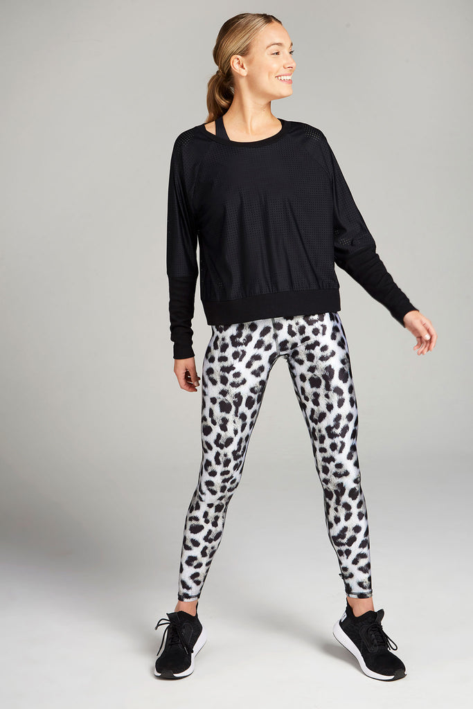 Snow Leopard Tall Band Leggings by Terez