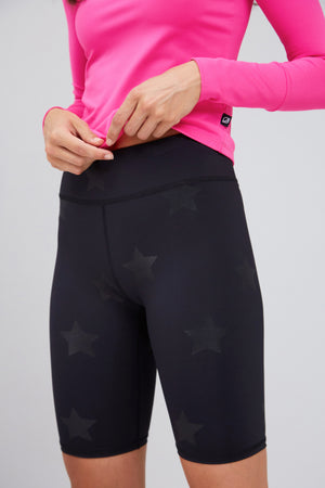 Black Star Foil Bike Shorts