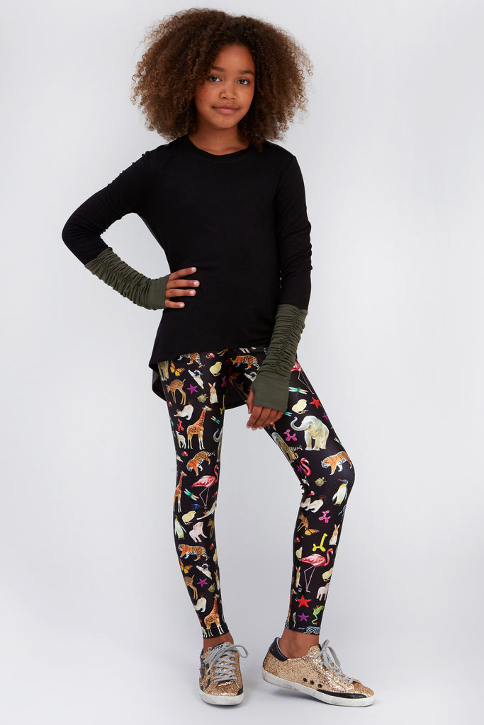 Girls The Animal Print Leggings