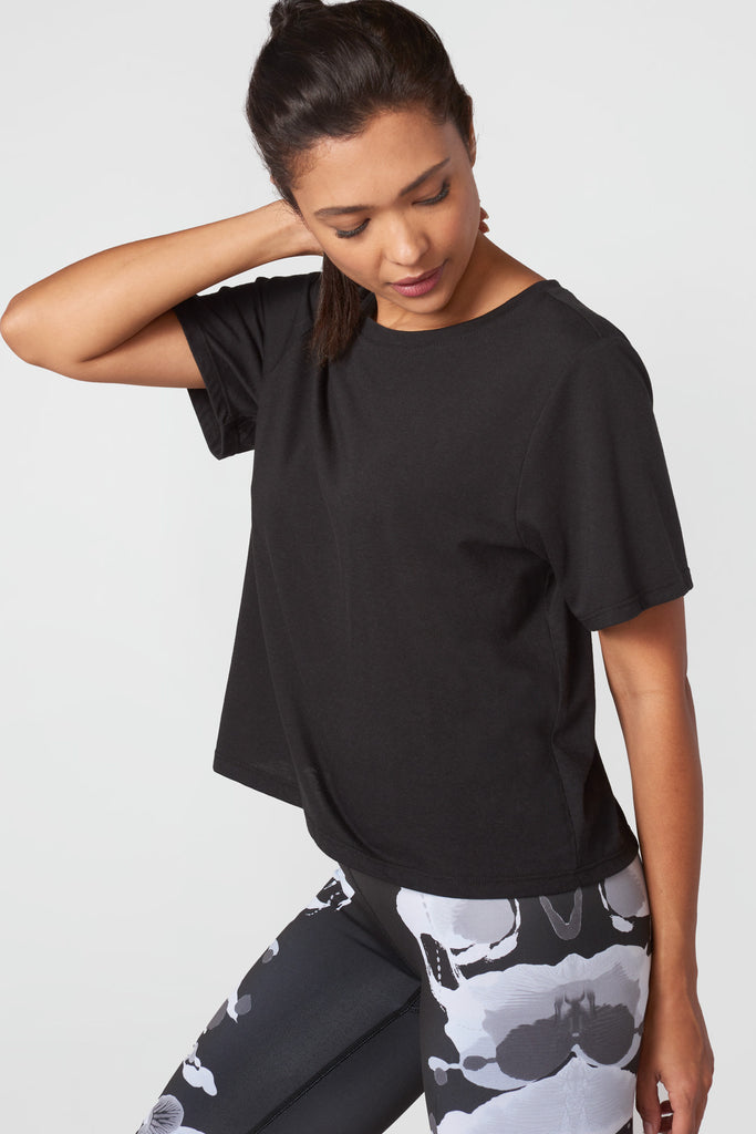 Cotton Tee in Licorice