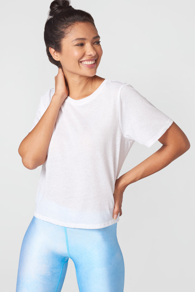 Cotton Tee in Marshmallow