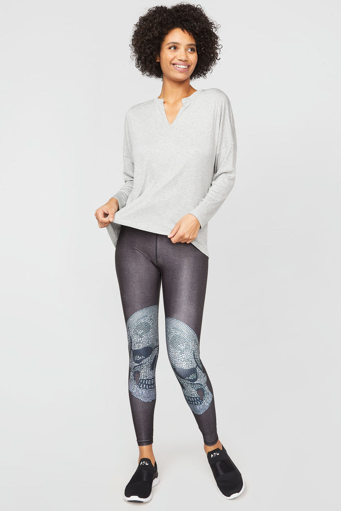 Crystal Skull Tall Band Leggings