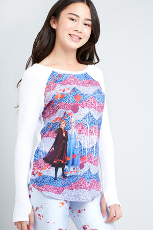 Disney Frozen 2 Enchanted Forest Printed Baseball Tee