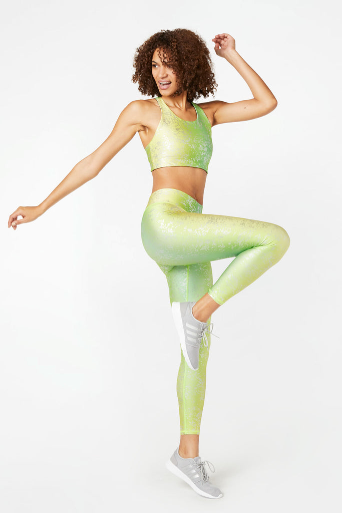 Pistachio Haze Balayage Tall Band Leggings