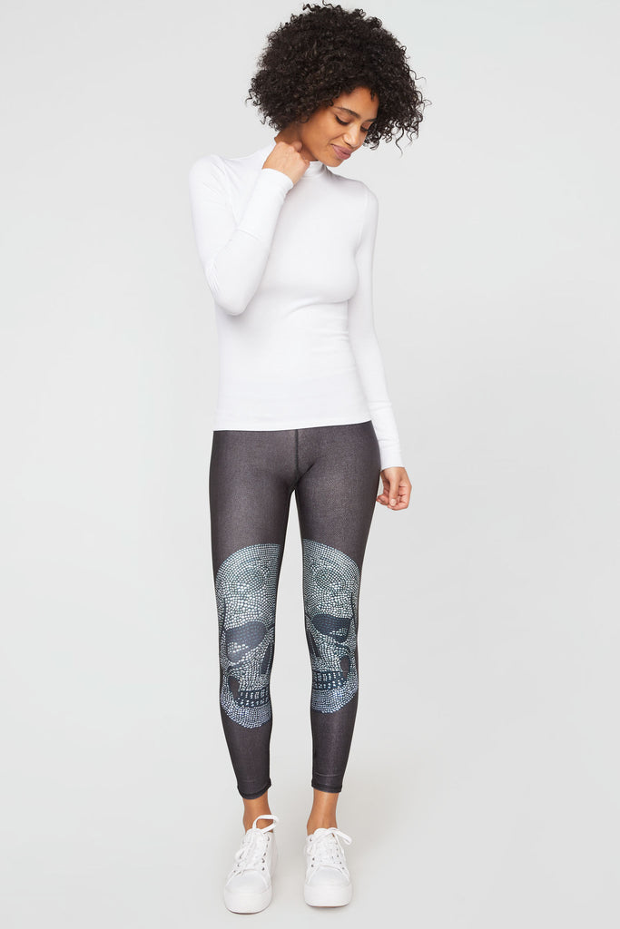 Crystal Skull Slim Band Leggings
