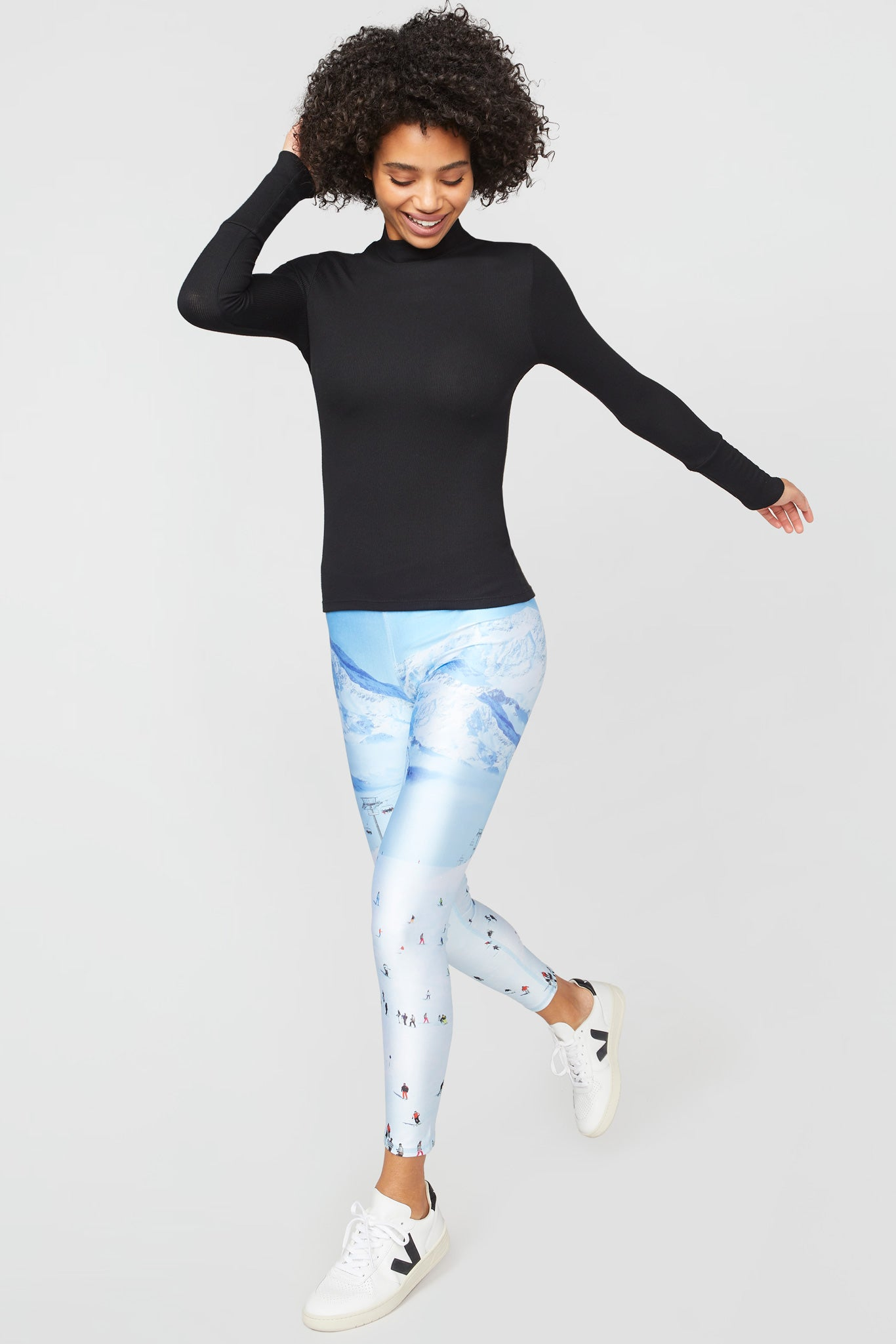 Ski Trip Slim Band Leggings