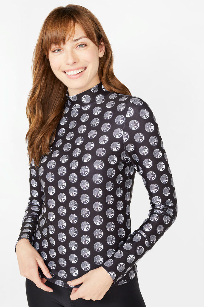 Dream Dots Mock Neck Top