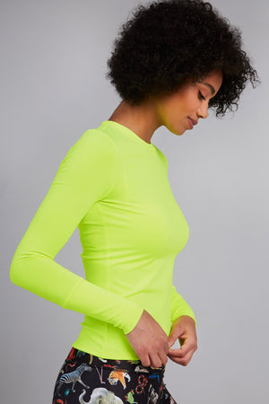 All-Use Crew Neck in Neon Green