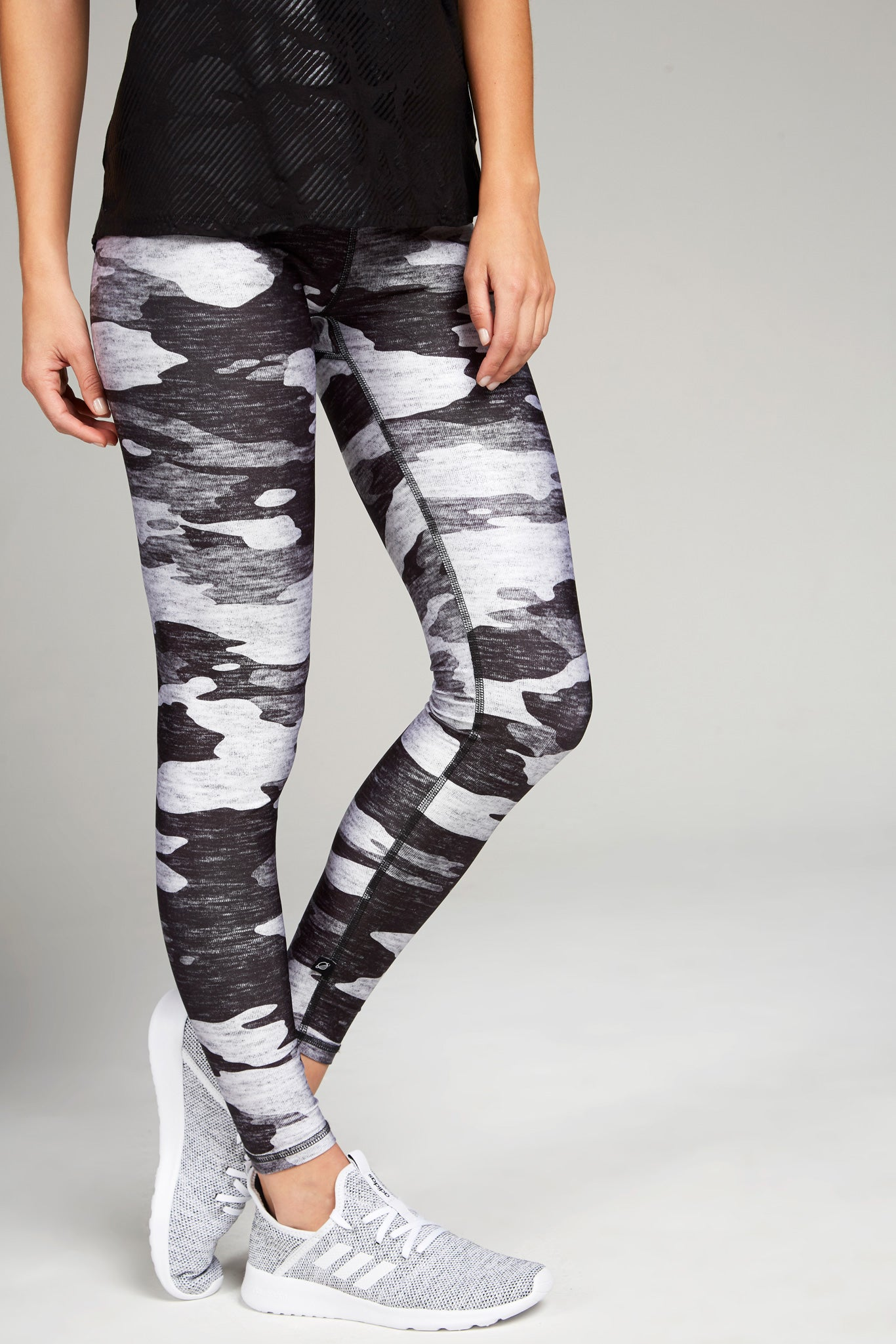 Heathered Gray Camo Tall Band Leggings