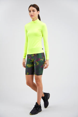 Green Striped Camo Bike Shorts