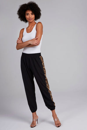 Leopard Goals Track Pants