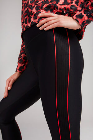 Red Piping Leggings by Terez