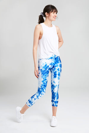 Sky's the Limit Tall Band Capri Leggings by Terez