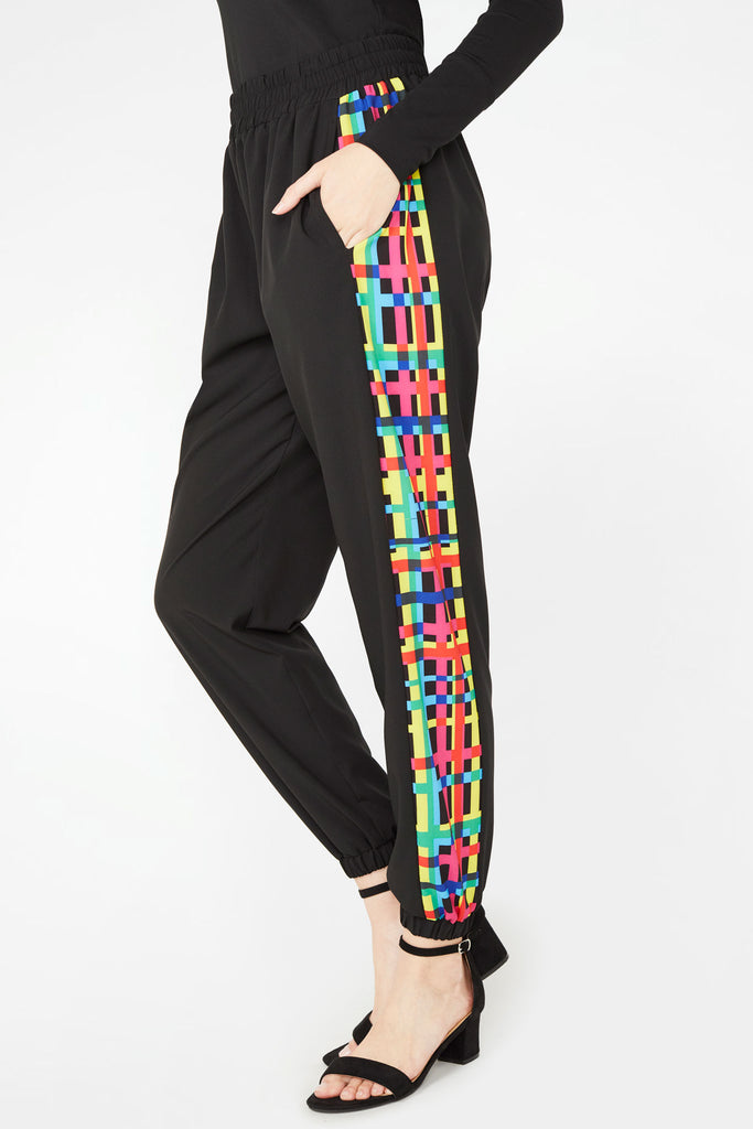 Technicolor Plaid Track Pants