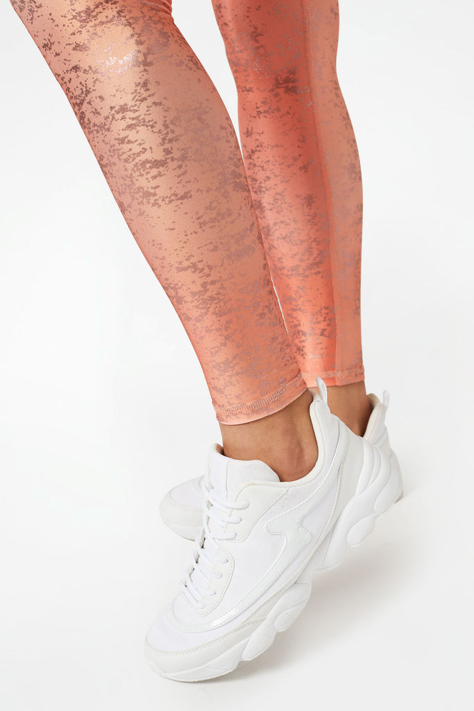 Cantaloupe Haze Balayage Tall Band Leggings