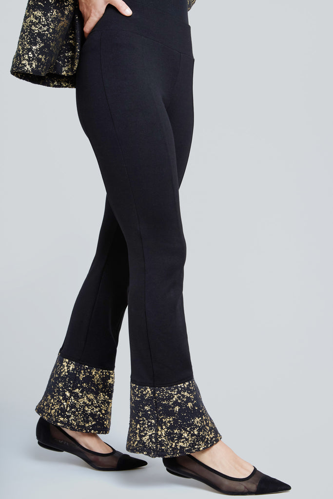 Starry Night Gold Foil Bell Pants