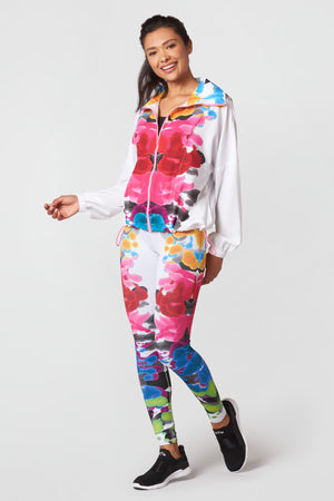 Blossomed Inkblots Windbreaker