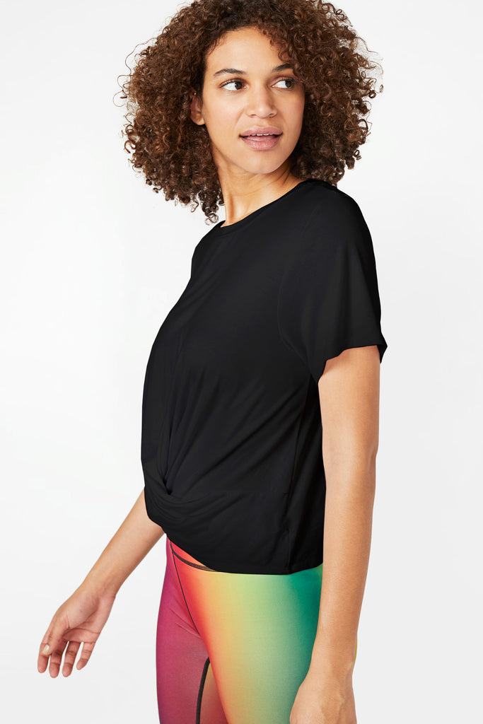 Black Twist Front T-Shirt