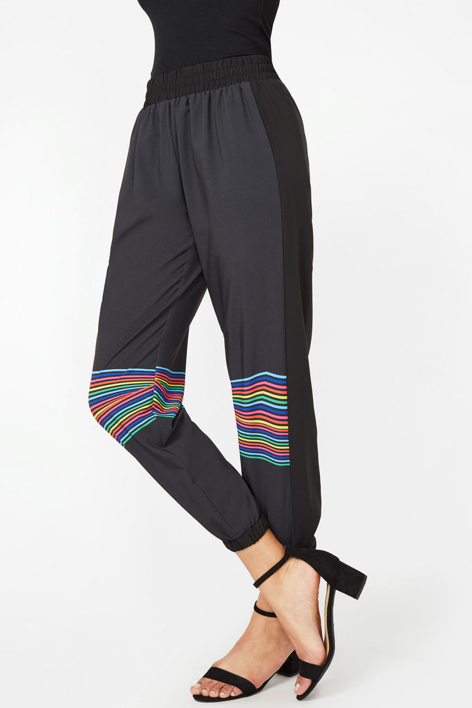 Vision Rainbow Stripe Track Pants