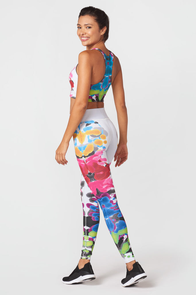 Blossomed Inkblots Tall Band Leggings