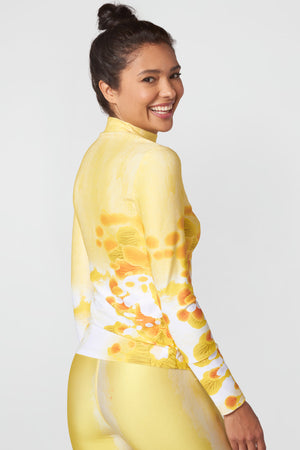 Sunshine Glow Mock Neck