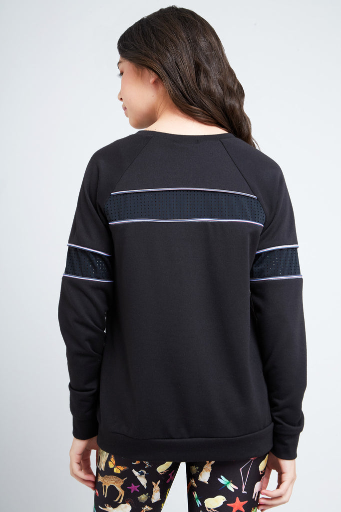 Girls Mesh French Terry Sweatshirt