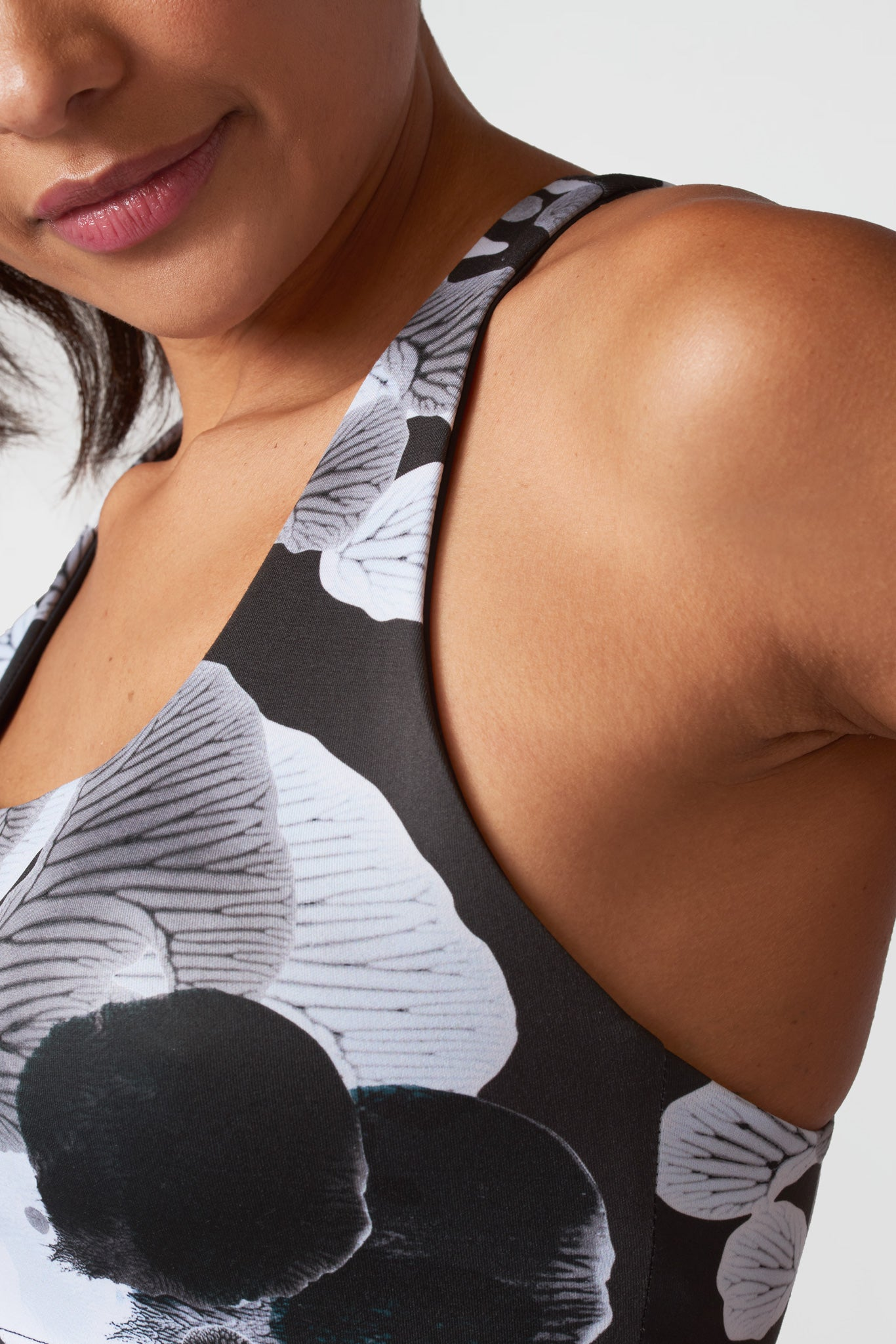 Shaded Inkblots Reversible Sports Bra
