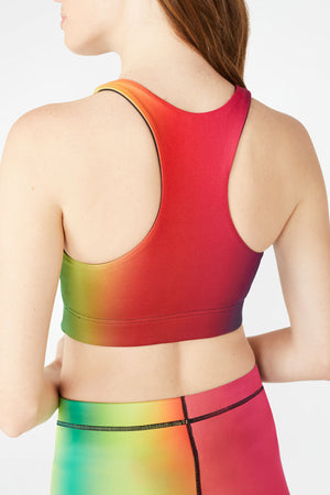 Vision Rainbow Reversible Sports Bra