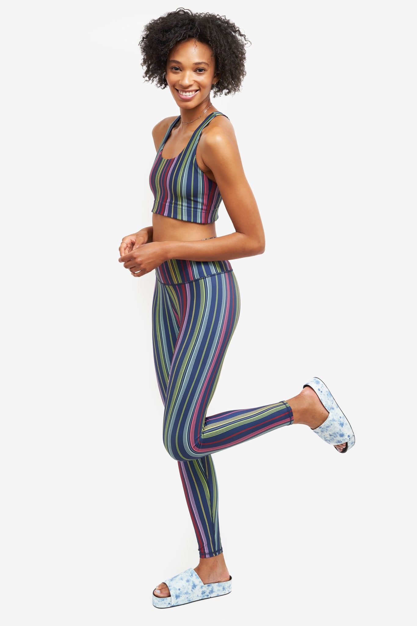 Sunset Stripes Super High-Band Leggings