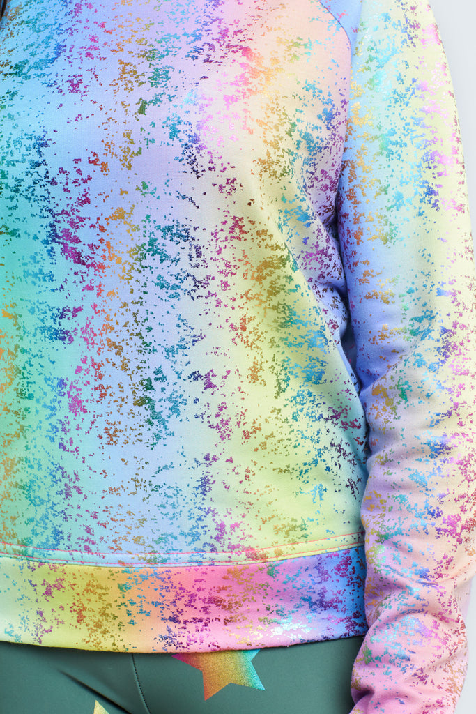 Girls Rainbow Balayage Foil Sweatshirt