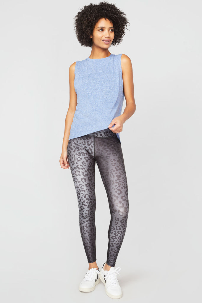 Charcoal Cheetah Tall Band Leggings