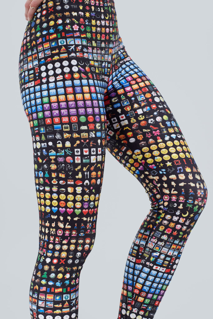 Emoji Slim Band Leggings