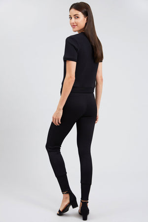 Stretch The Rules Rib Leggings with Neon Drawstring