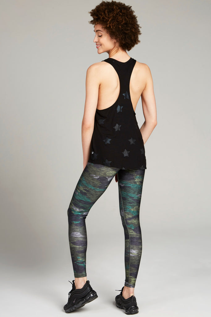 Heathered Camo Tall Band Leggings by Terez